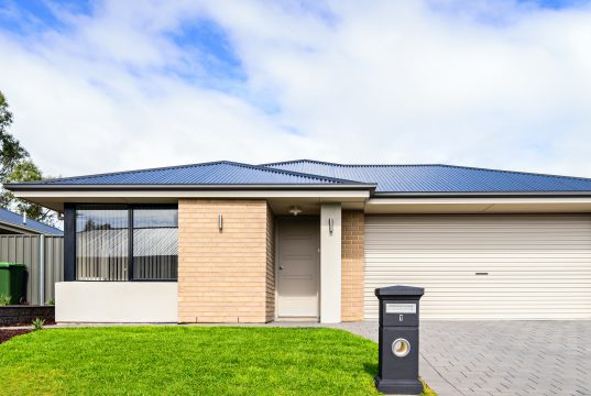 Brand new Australian house with garage